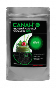 Pudra Proteică de cânepă Hemp Essentials 500 G Canah