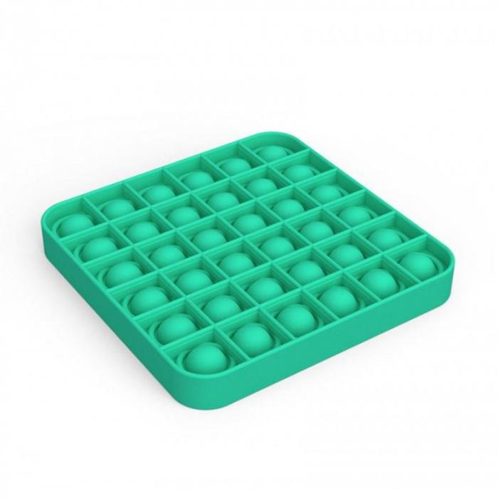 Jucărie senzorială POP IT culoare verde, formă pătrată [1]
