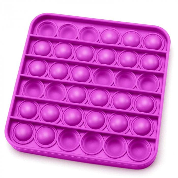 Jucărie senzorială POP IT culoare mov, formă pătrată [0]