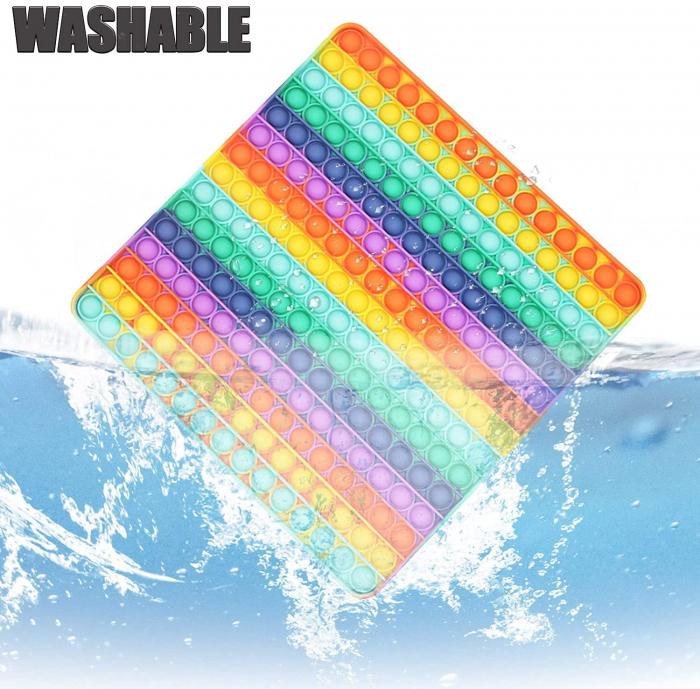 Jucărie senzorială POP IT uriaș, multicolor, formă pătrată, 225 bule [4]