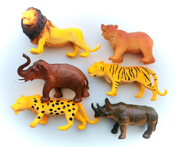 Set 6 figurine ANIMALE SĂLBATICE [0]
