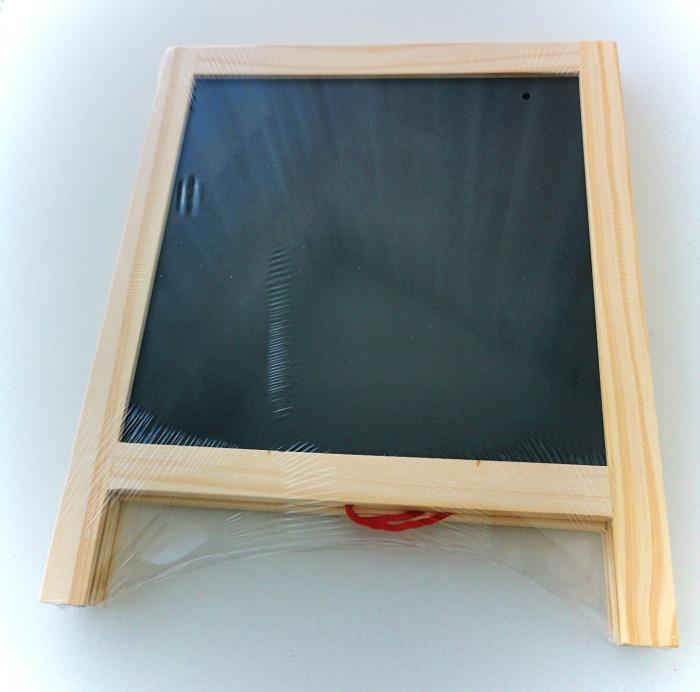 Tablă de scris pliabilă din lemn cu 2 feţe [1]