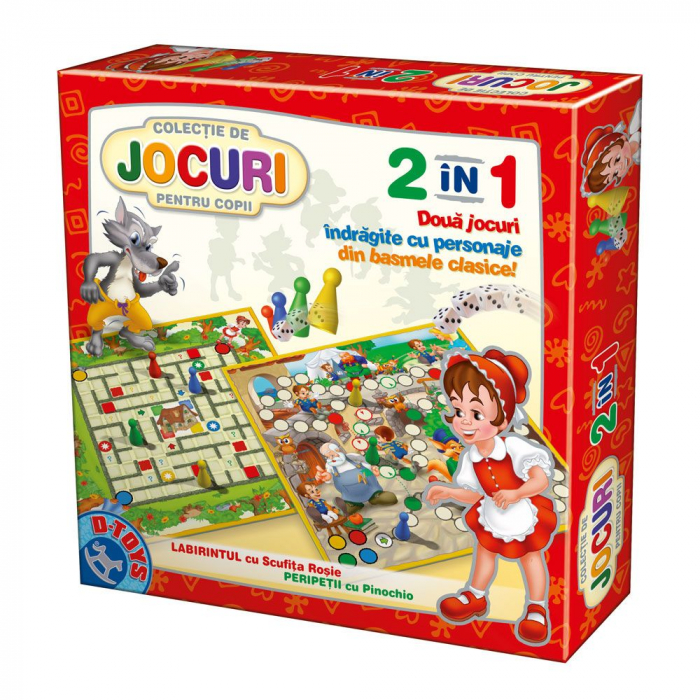 2 in 1 Două jocuri indrăgite cu personaje din basmele clasice- Labirintul cu Scufiţa Roşie şi Peripeţii cu Pinochio [0]