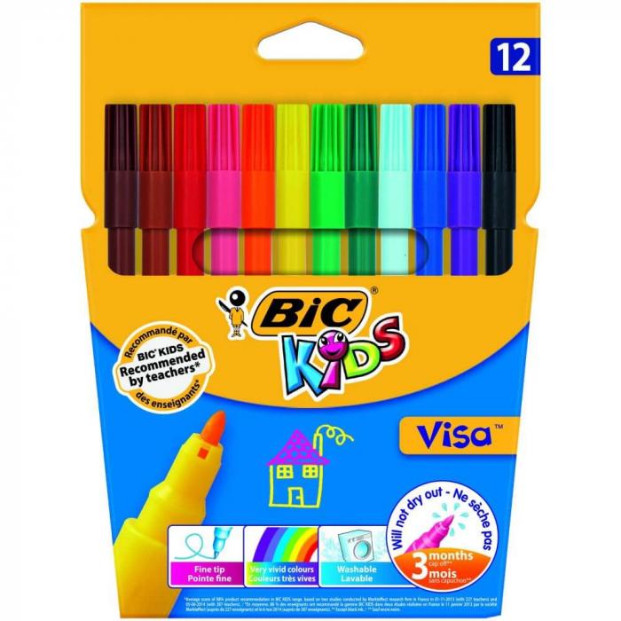 Set carioci lavabile Visa BIC Kids 12 buc [0]