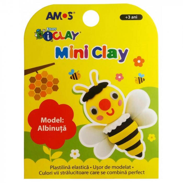 Plastilină elastică Mini Clay ICLAY AMOS - ALBINUŢĂ 30 gr/cutie [0]