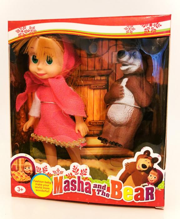 Set figurine Masha si Ursul, rochiţă roz [0]