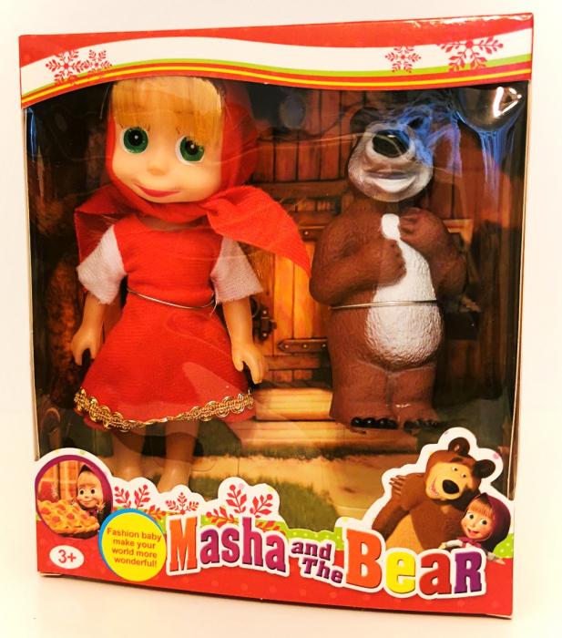Set figurine Masha si Ursul, rochiţă roşie [0]
