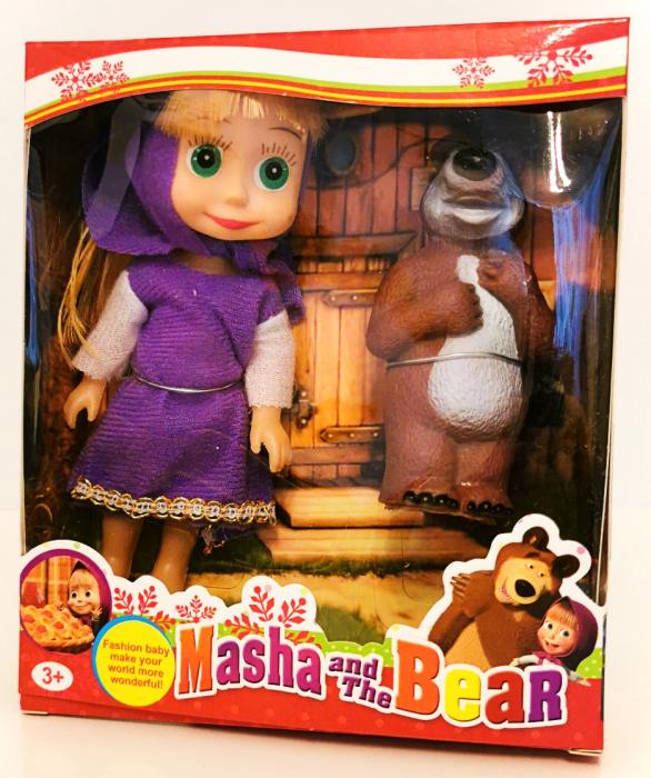Set figurine Masha si Ursul, rochiţă mov [0]