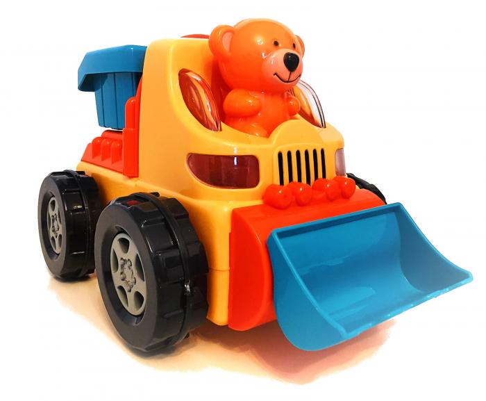 Jucărie ursuleţ in maşină tip basculantă, cu sunete şi lumini [1]