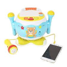 Jucărie interactivă cu microfon TOBĂ ROTATIVĂ culoare albastru [2]