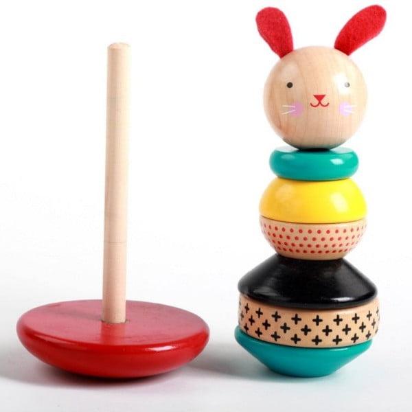 Jucărie de stivuit din lemn Hopa Mitică [0]