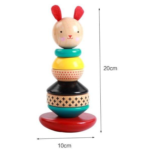 Jucărie de stivuit din lemn Hopa Mitică [1]