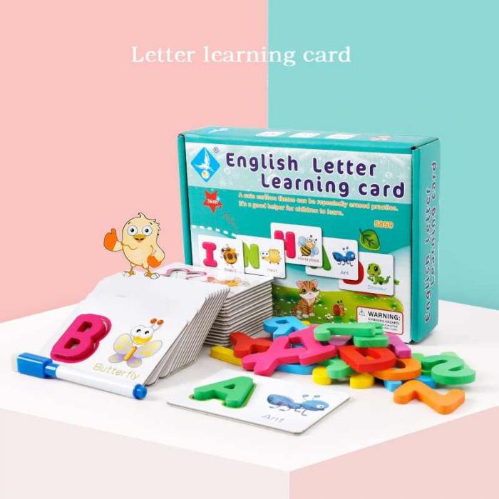Joc Educativ pentru învăţarea alfabetului in limba engleză- English letter learning card [0]