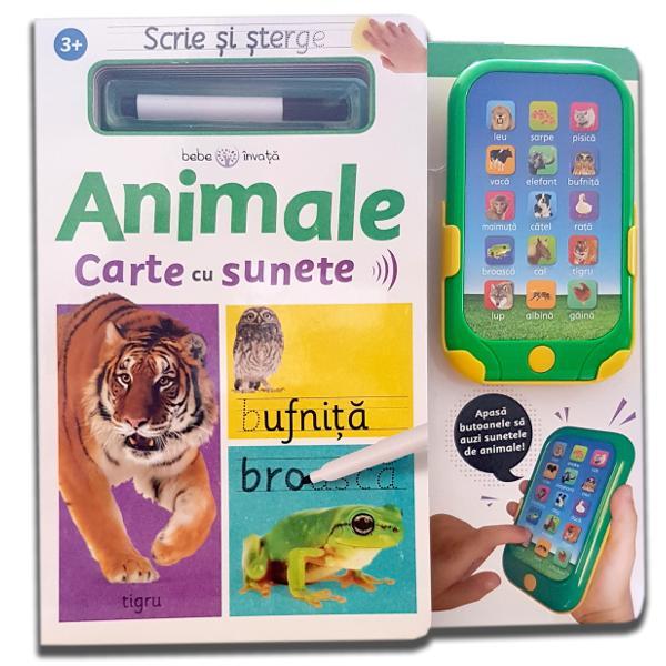 Scrie și șterge. Animale. Carte cu sunete [0]