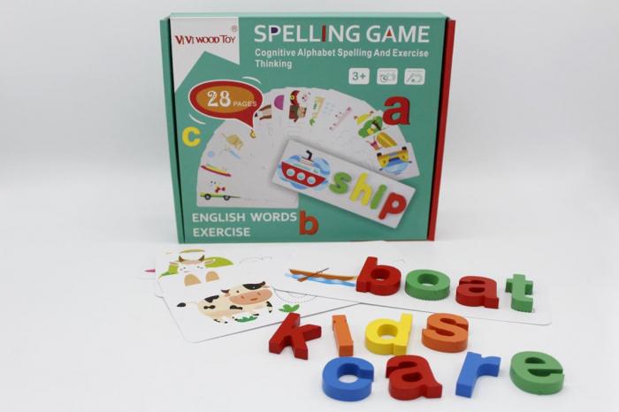 Joc educativ din lemn - Învaţă literele in engleză SPELLING GAME [0]