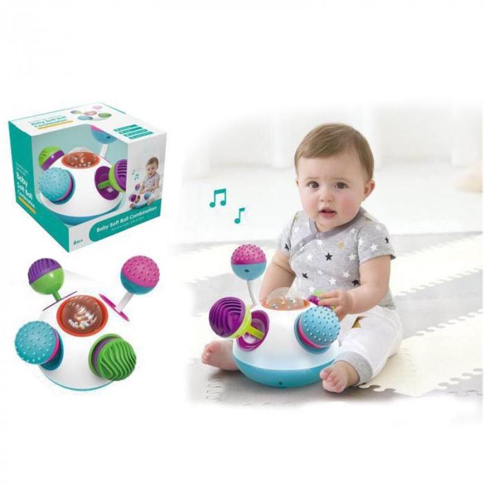 Jucărie senzorială sferică cu lumini şi sunete [0]