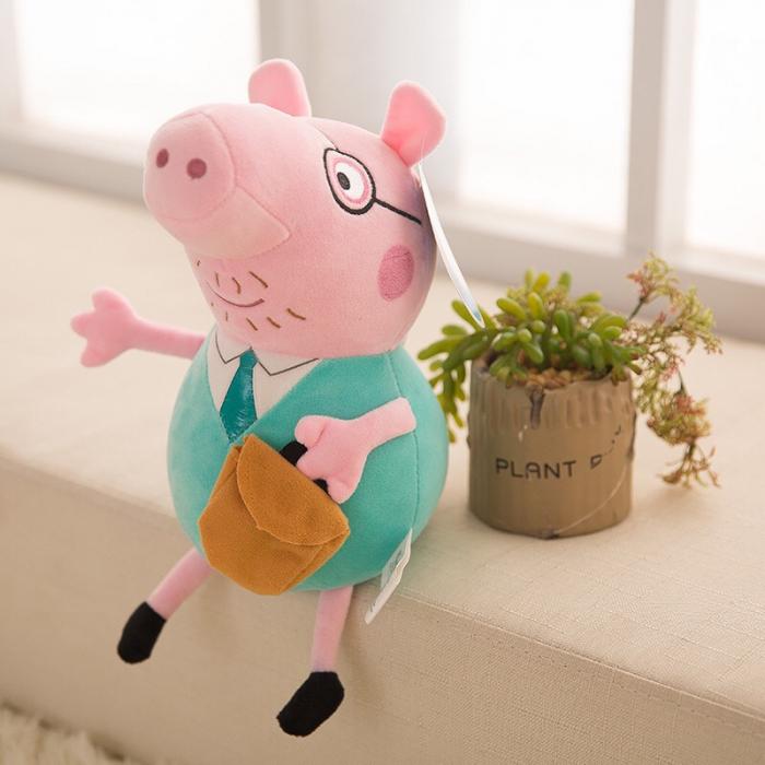 Figurină din pluş Tata Purceluş - PEPPA PIG 40 cm [0]