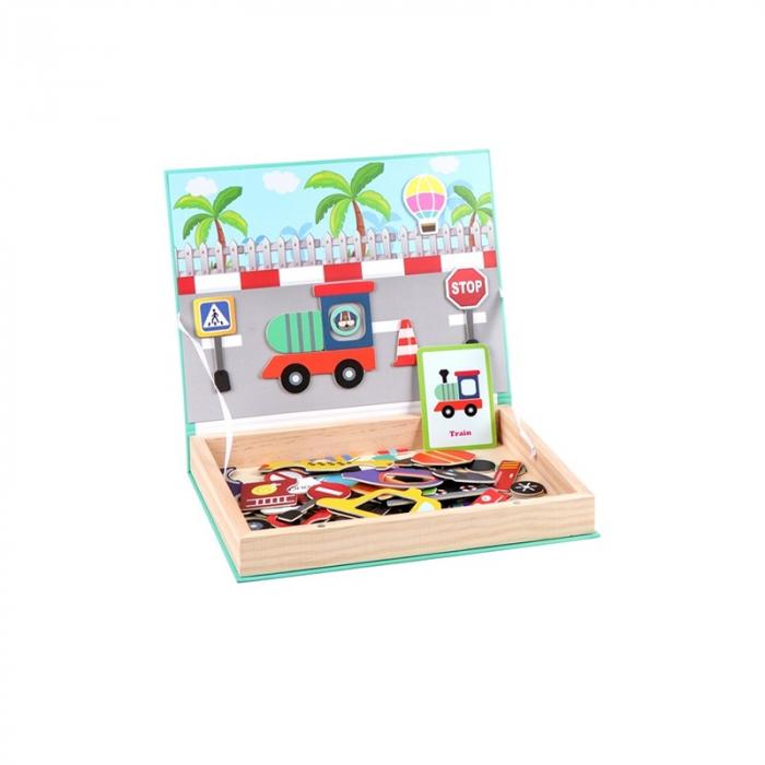 Joc magnetic Construiește mijloace de transport [1]