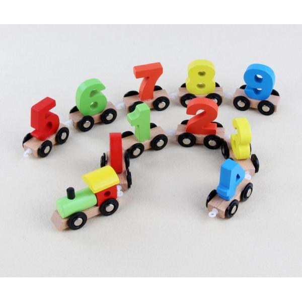 Trenuleţ din lemn cu numere de la 0 la 9 Goodcow [1]