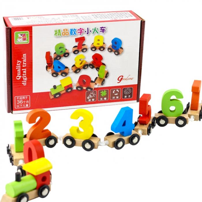 Trenuleţ din lemn cu numere de la 0 la 9 Goodcow [0]