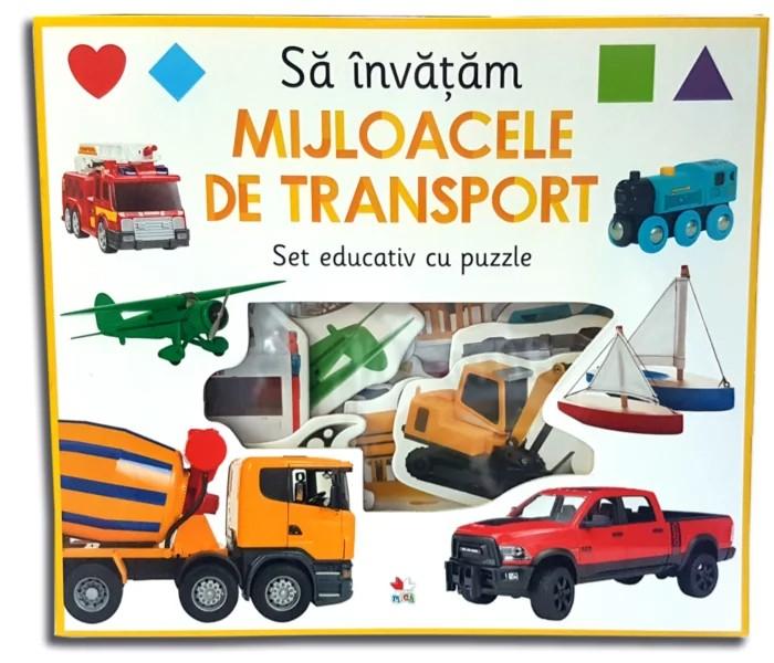 Să învățăm mijloacele de transport. Set educativ cu puzzle [0]