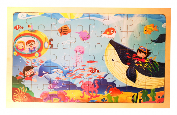 Puzzle din lemn 40 de piese peisaj sub apă [0]