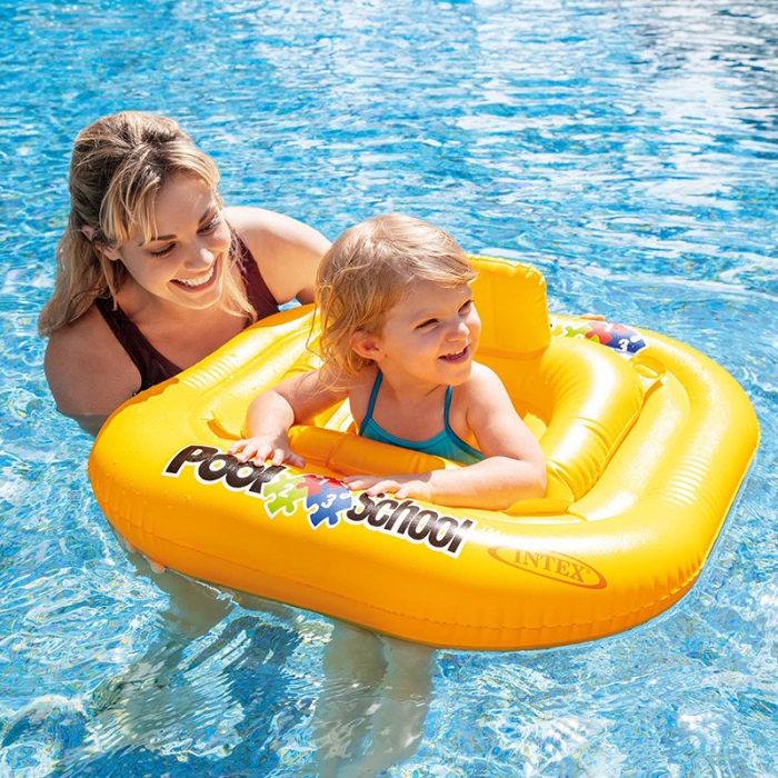 Colac gonflabil Intex Pool School Deluxe Baby Float 79 cm x 79 cm - 11-15 kg/ 1-2 ani [1]