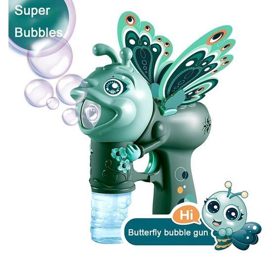 Jucărie de făcut baloane de săpun cu sunete și lumini design fluture verde [0]