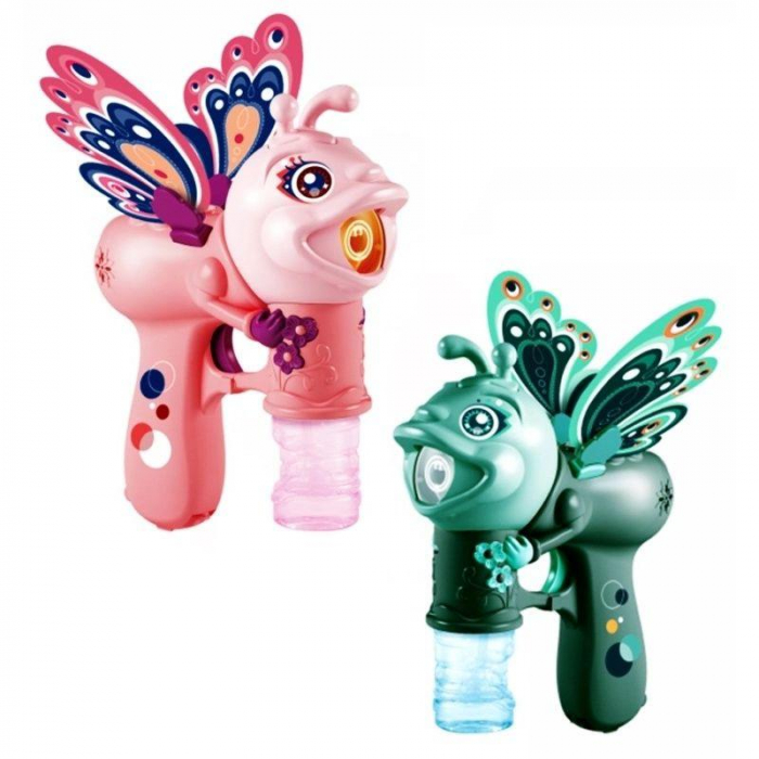 Jucărie de făcut baloane de săpun cu sunete și lumini design fluture verde [2]