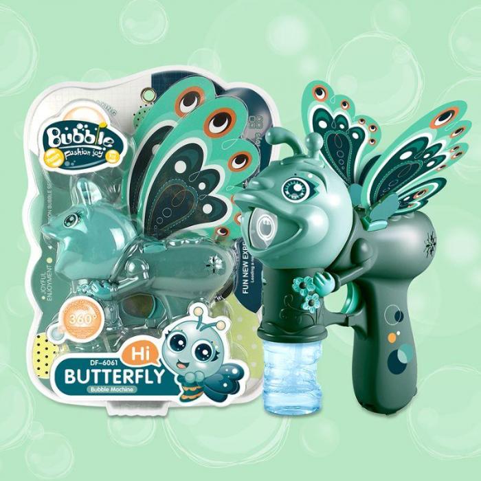 Jucărie de făcut baloane de săpun cu sunete și lumini design fluture verde [1]