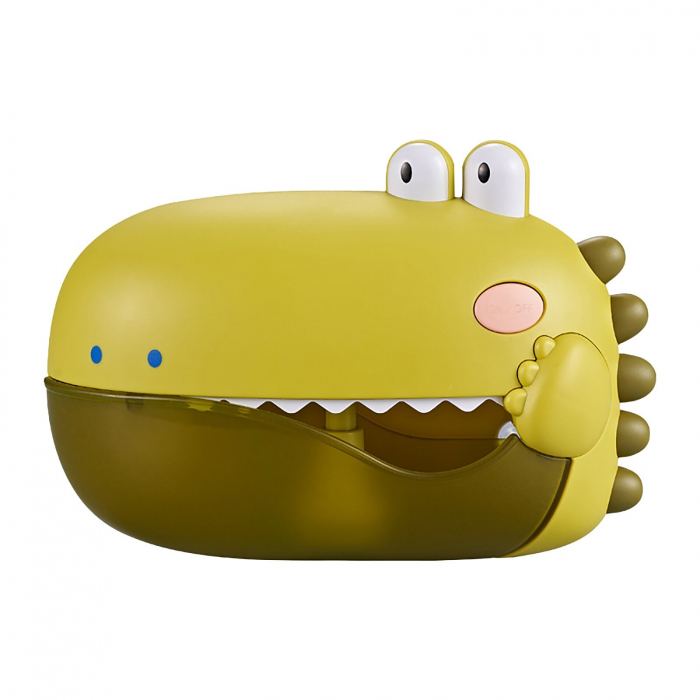 Jucărie de făcut baloane de săpun pentru baie cu sunete design crocodil verde [2]