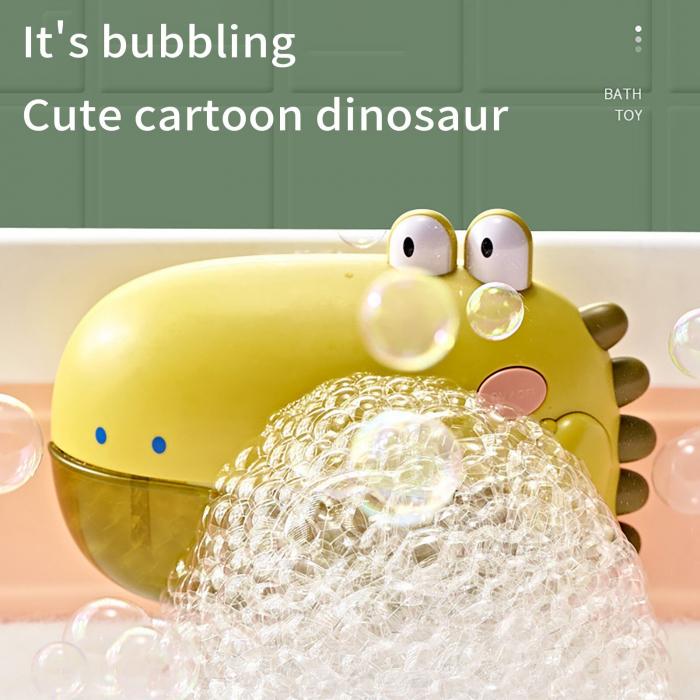 Jucărie de făcut baloane de săpun pentru baie cu sunete design crocodil verde [3]