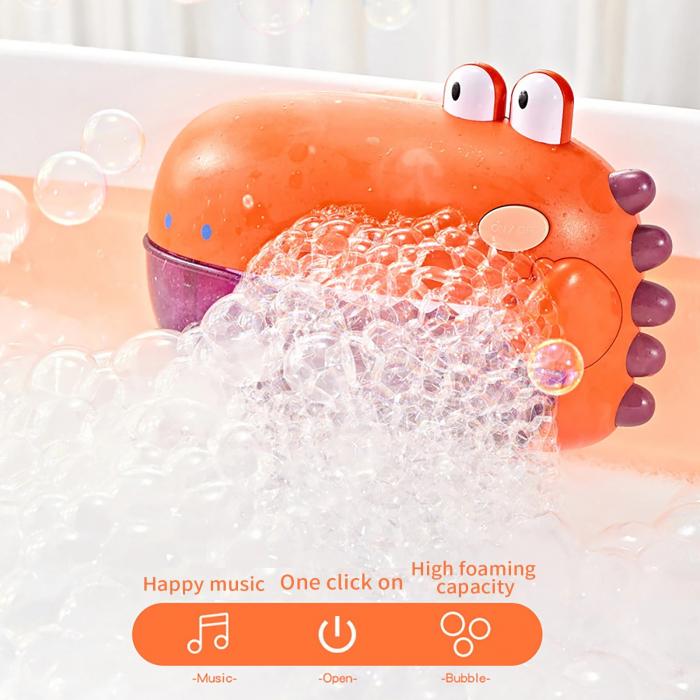 Jucărie de făcut baloane de săpun pentru baie cu sunete design crocodil verde [4]
