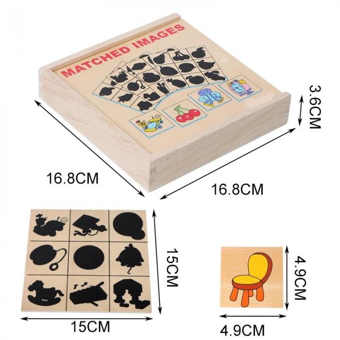 Jocul umbrelor - joc de asociere de tip Montessori din lemn- Obiecte [2]