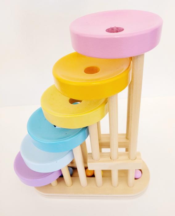Jucărie de tip Montessori din lemn Cascada cu bile - Cascada de Canicas de Madera [1]