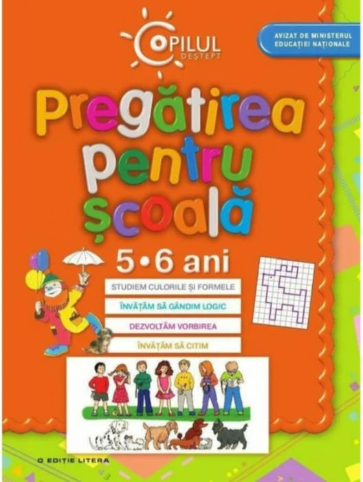 Copilul deștept. Pregătirea pentru școală. 5-6 ani - Coperta portocalie [0]