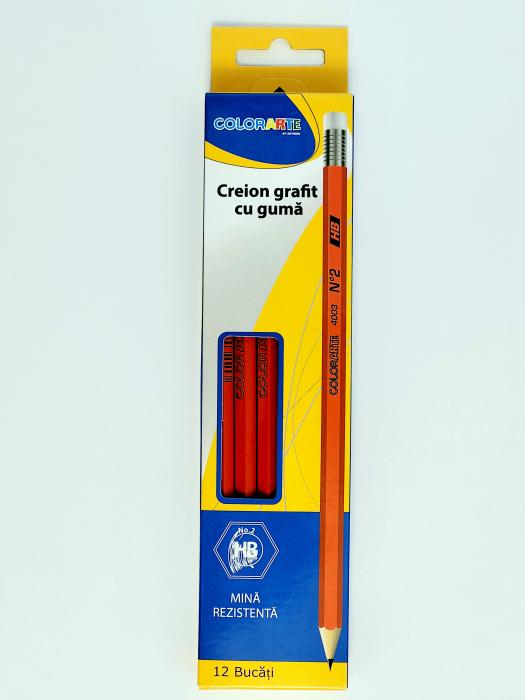 Set 12 creioane grafit cu gumă ColorArte by Reimon [0]
