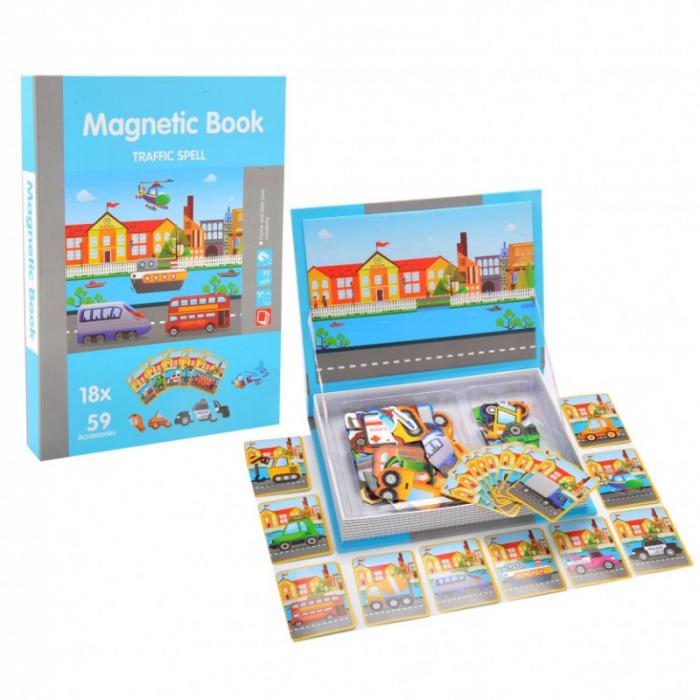 Carte magnetică puzzle MIJLOACE DE TRANSPORT - Magnetic Book traffic spell [0]