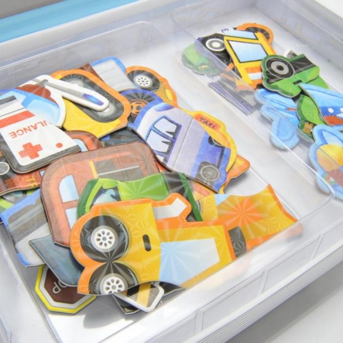 Carte magnetică puzzle MIJLOACE DE TRANSPORT - Magnetic Book traffic spell [6]