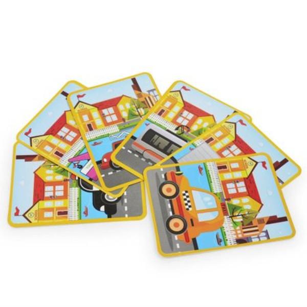 Carte magnetică puzzle MIJLOACE DE TRANSPORT - Magnetic Book traffic spell [7]