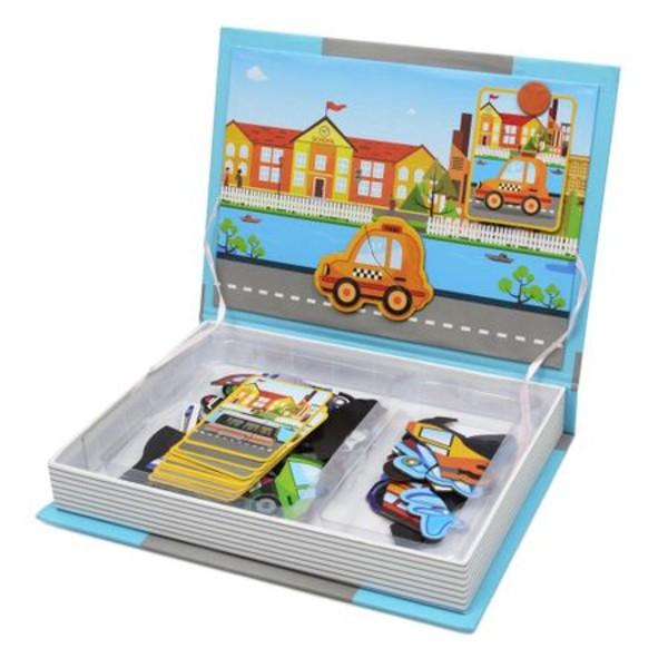 Carte magnetică puzzle MIJLOACE DE TRANSPORT - Magnetic Book traffic spell [4]