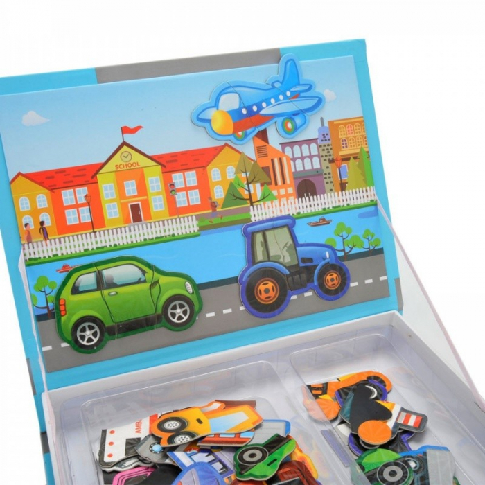 Carte magnetică puzzle MIJLOACE DE TRANSPORT - Magnetic Book traffic spell [5]