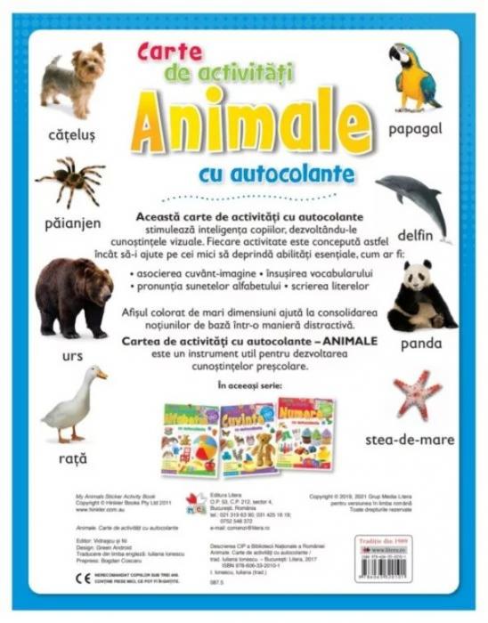 Animale. Carte de activități cu autocolante [1]