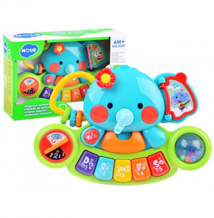 Jucărie interactivă cu sunete și lumini pian Elefant HOLA [0]