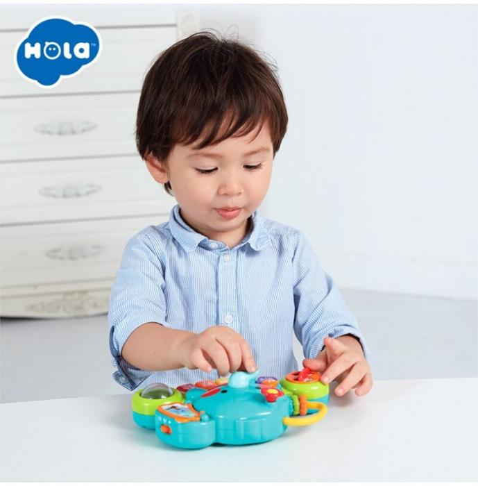 Jucărie interactivă cu sunete și lumini pian Elefant HOLA [9]