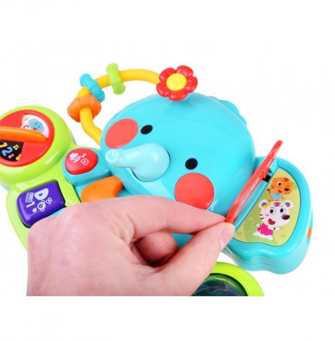 Jucărie interactivă cu sunete și lumini pian Elefant HOLA [2]
