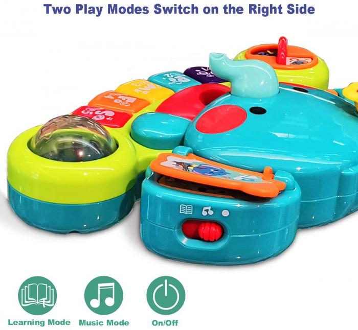 Jucărie interactivă cu sunete și lumini pian Elefant HOLA [7]