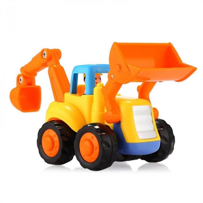 Set mașinuțe utilaje de construcții și munci agricole Hola [3]
