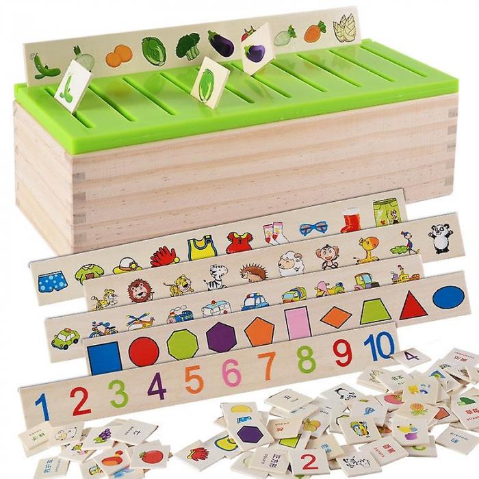 Joc Montessori de sortare și asociere imagini - Knowledge classification box [3]