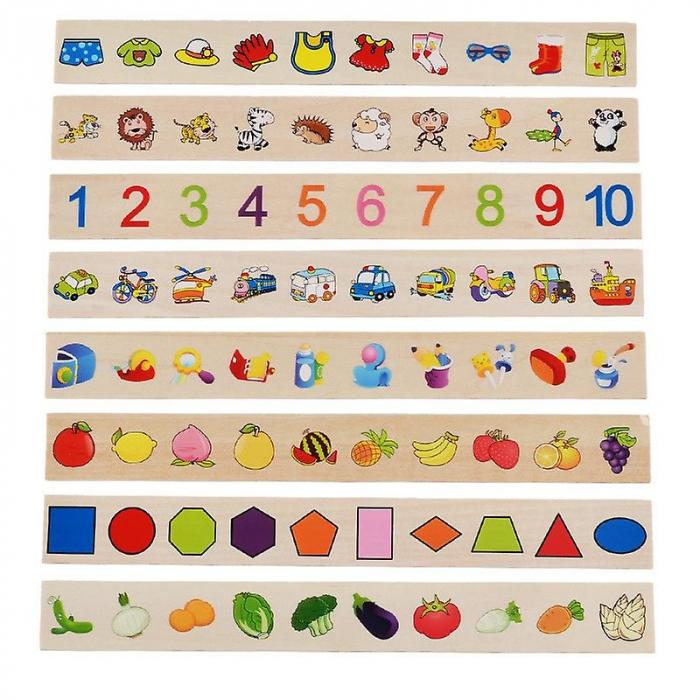 Joc Montessori de sortare și asociere imagini - Knowledge classification box [8]